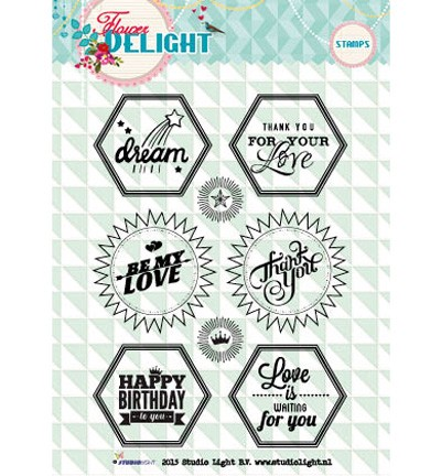 Studio Light - Clearstamp - Flower Delight - STAMPFD96