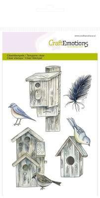 CraftEmotions - Clearstamp - Botanical Summer - Birdhouses - 130501/1074