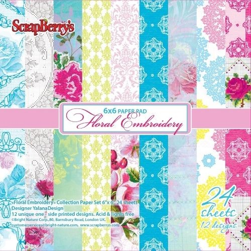 ScrapBerry`s - Paperpack - Floral Embroidery - SCB220604409