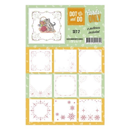 Card Deco - Oplegkaarten - Dot & Do - Cards Only - Set 2 - CODO002