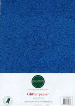 Central Craft Collection - Glitterpapier: Blauw - 280-009