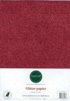 Central Craft Collection - Glitterpapier: Rood - 280-001