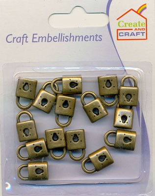 Create and Craft - Embellishments - Hangslot: Brons - 318829