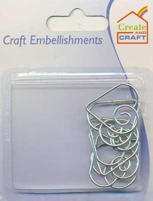 Create and Craft - Embellishments - Harten: Zilver - 318607