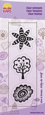Kars - Clearstamp - Flower Fantasy 1 - 180013/0534