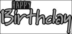 Marianne Design - Die - Craftables - Happy BIRTHDAY - CR1320