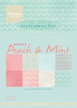 Marianne Design - Paperpack - Pretty Papers - Eline`s peach & mint - PB7047