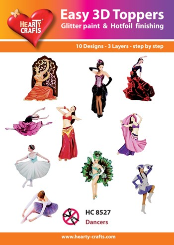 Hearty Crafts - Easy 3D Toppers - Dancers - HC8527