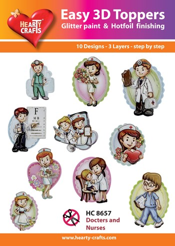 Hearty Crafts - Easy 3D Toppers - Docters and Nurses - HC8657