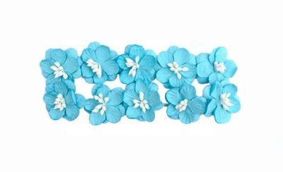 ScrapBerry`s - Paper Flowers - Cherry Blossom: Turquoise - SCB300212