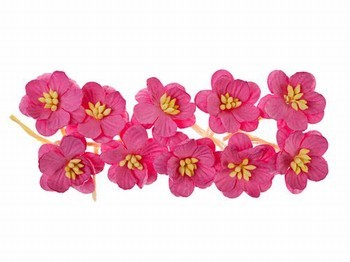 ScrapBerry`s - Paper Flowers - Cherry Blossom: Bright Pink - SCB300205