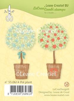 Leane Creatief - Clearstamp - Pot plant - 55.0614