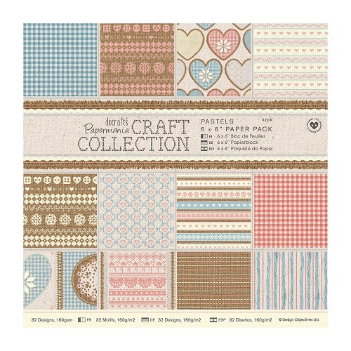 Papermania - Paperpack - Craft Collection - Pastels - PMA160187