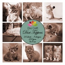 Dixi Craft - Paperpack - Kittens sepia - ET0240
