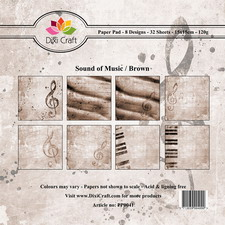 Dixi Craft - Paperpack - Sound of music: Brown - PP0041