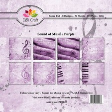 Dixi Craft - Paperpack - Sound of music: Purple - PP0040