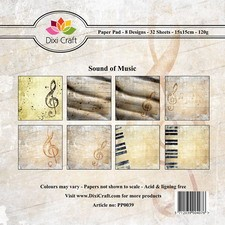Dixi Craft - Paperpack - Sound of music: Light brown - PP0039
