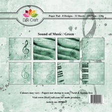 Dixi Craft - Paperpack - Sound of music: Green - PP0042