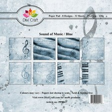 Dixi Craft - Paperpack - Sound of music: Blue - PP0043