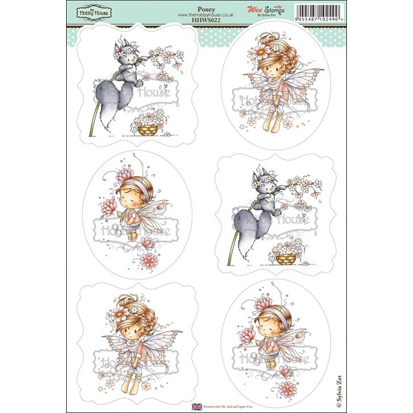 The Hobby House - Wee Stamps - Uitdrukvel A4 - Posey - HHWS022