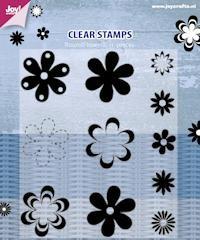 Joy! crafts - Clearstamp - Bloemen rond - 6410/0355
