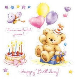 ScrapBerry`s - Clearstamp - My little bear Birthday - SCB071206b