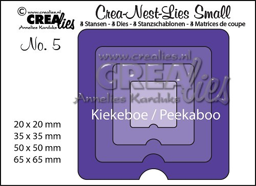 Crealies - Die - Crea-Nest-Lies Small - Kiekeboe