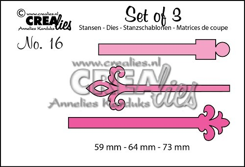 Crealies - Die - Set of 3 - Vaandels - No. 16