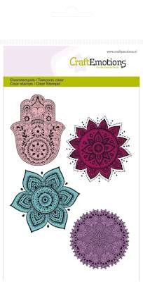 CraftEmotions - Clearstamp - Hand, flower ornaments - 130501/1083
