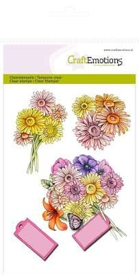 CraftEmotions - Clearstamp - Bouquet - 130501/1073
