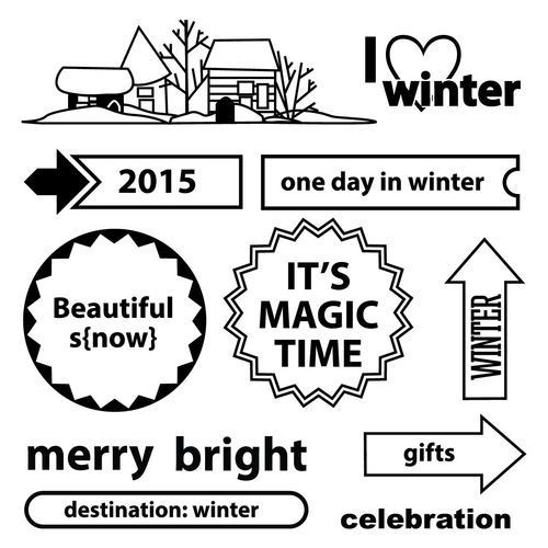 ScrapBerry`s - Clearstamp - Happy Holidays - I love winter - SCB4906005b