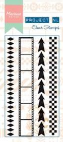 Marianne Design - Project NL - Clearstamp - Border - Arrows - PL1501