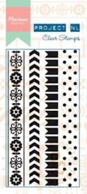 Marianne Design - Project NL - Clearstamp - Border - Dots - PL1502