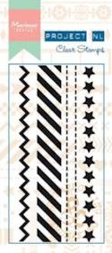 Marianne Design - Project NL - Clearstamp - Border - Stars - PL1504