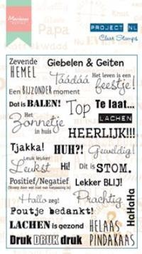Marianne Design - Project NL - Clearstamp - Teksten - Emoties - PL1507