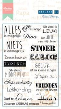 Marianne Design - Project NL - Clearstamp - Teksten - Individu - PL1508