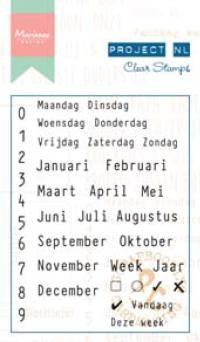 Marianne Design - Project NL - Clearstamp - Teksten - Calendarium - PL1510