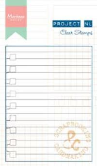Marianne Design - Project NL - Clearstamp - Project NL - Lijn papier - PL1511
