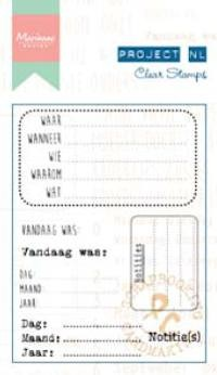 Marianne Design - Project NL - Clearstamp - Teksten - Notities - PL1513