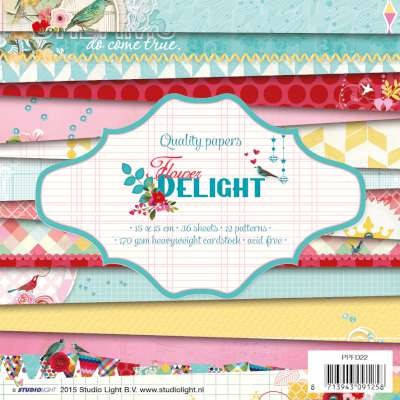 Studio Light - Paperpack - Flower Delight - PPFD22