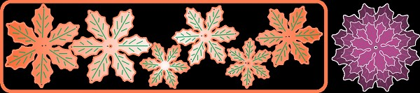 Cheery Lynn Design - Die - Poinsettia Strip - B324