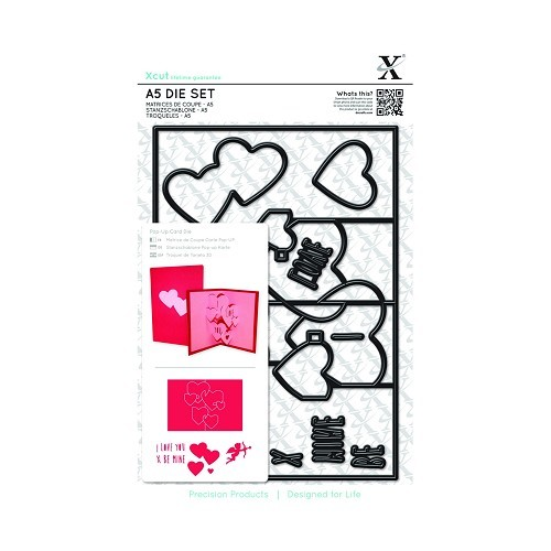 Xcut - Die set - Pop Up Card - Love