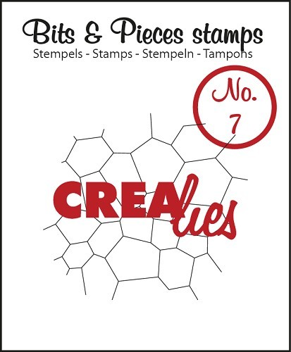 Crealies - Clearstamp - Bits & Pieces - No. 7 - Thin mosaic - CLBP07