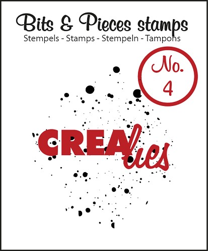 Crealies - Clearstamp - Bits & Pieces - No. 04 - Ink splashes - CLBP04