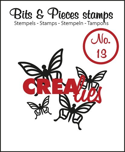 Crealies - Clearstamp - Bits & Pieces - No. 13 - Butterfly 1 - CLBP13