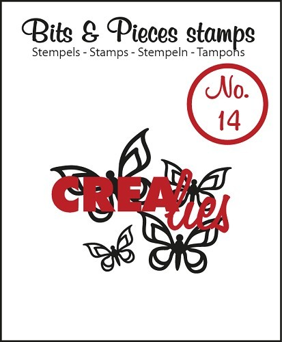 Crealies - Clearstamp - Bits & Pieces - No. 14 - Butterfly 2 - CLBP14