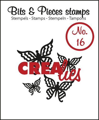 Crealies - Clearstamp - Bits & Pieces - No. 16 - Butterfly 4 - CLBP16