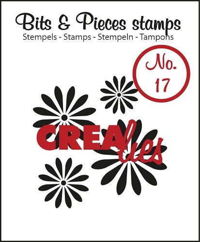 Crealies - Clearstamp - Bits & Pieces - No. 17 - Flowers 1 - CLBP17