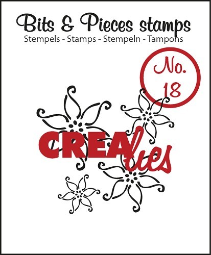 Crealies - Clearstamp - Bits & Pieces - No. 18 - Flowers 2 - CLBP18