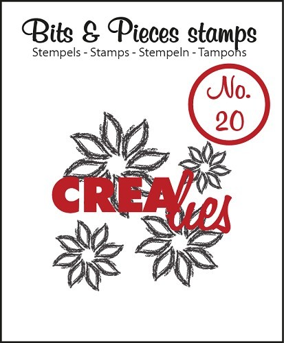 Crealies - Clearstamp - Bits & Pieces - No. 20 - Flowers 4 - CLBP20